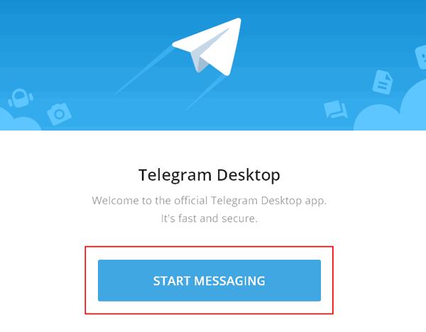 Нажмите кнопку Start Messaging