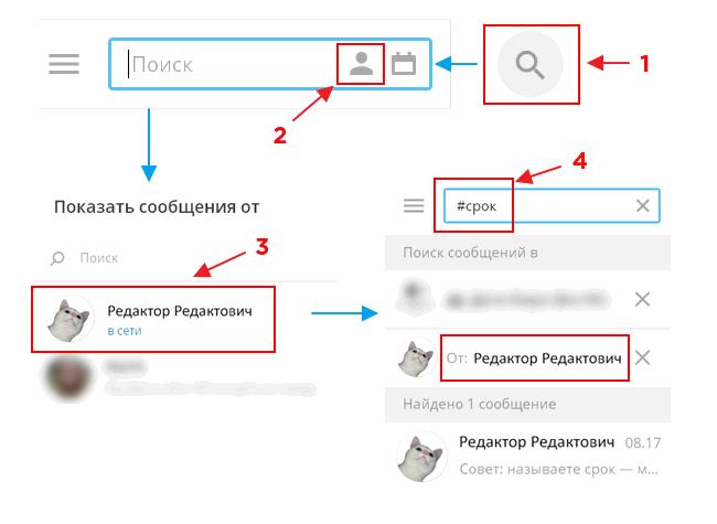 Как найти сообщения пользователя в группе и искать по ним